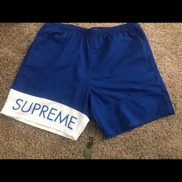 344f0a0bb6 Supreme Shorts | Blue Banner | Poshmark